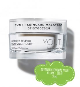 Kandungan YOUTH Night Cream Light