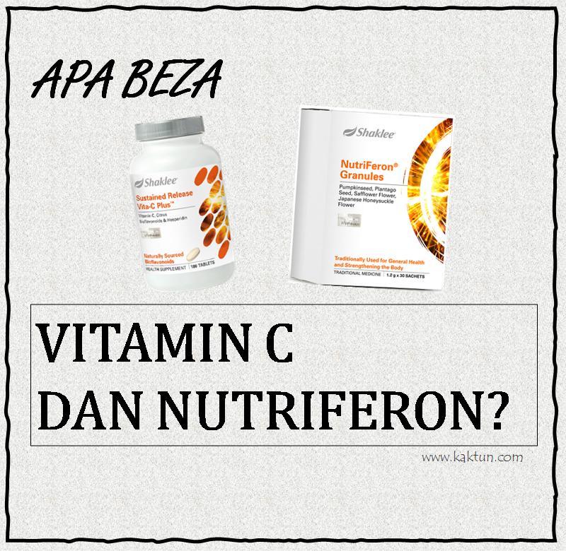 BEZA VITAMIN C DAN NUTRIFERON